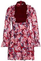For Love & Lemons BLOSSOM Summer dress cranberry