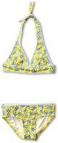 Juicy Couture Little Love Birds Halter Top Bikini (Toddler/Little Kids/Big Kids) (Yellow Cream Multi) - Apparel