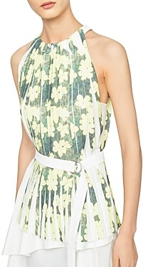 3.1 Phillip Lim Knife Pleated Belted Top