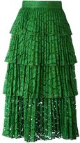 No.21 overlay lace pleated skirt