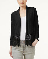 INC International Concepts Lace-Trim Cardigan, Only at Macy's