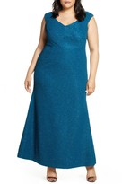 Eliza J Glitter Mermaid Gown