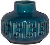 John Lewis Scandi Pattern Squat Vase, Blue