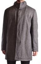 Manuel Ritz Men's Grey Polyester Coat.