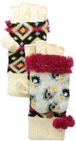 Muk Luks Women's Flip Glove with Fur Lining
