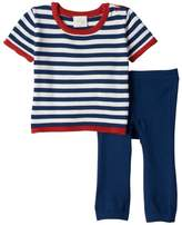 Cuddl Duds Baby Boy Striped Nautical Knit Top & Pants Set