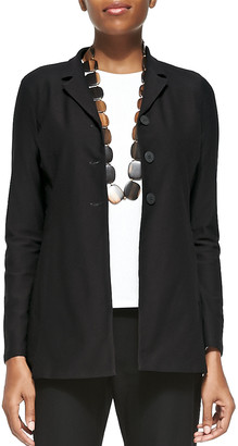 Eileen Fisher Petite Washable-Crepe Long Jacket
