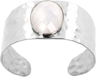 Honora Stainless Steel Mother-of-Pearl Doublet Cuff