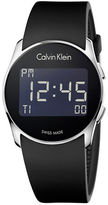 Calvin Klein Digital Future Black Rubber Strap Watch, K5B23TD1