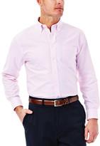 Haggar Solid Oxford Dress Shirt - Regular Fit, Buttoned Down Collar