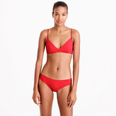 J.Crew Scalloped French bikini top in Italian matte