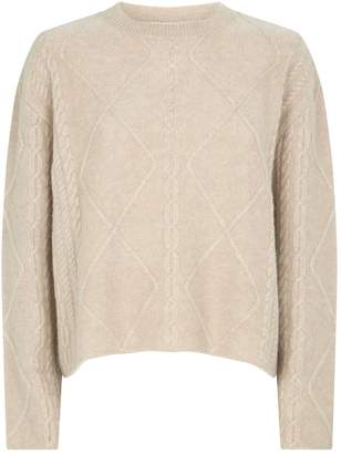 Roche Ryan Cable-Knit Cashmere-Silk Sweater