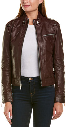 Andrew Marc Rego Racer Glove Lamb Leather Jacket