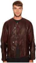 Vivienne Westwood Pourpoint Scarred Leather Jacket Men's Coat