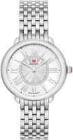 Michele Serein Mid Diamond Dial Watch in Silver