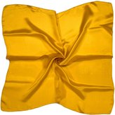 Bees Knees Fashion Old Yellow Small (19.5 x 19.5 inches) Pure Silk Square Scarf