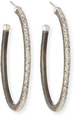 Armenta New World Scalloped-Edge Hoop Earrings