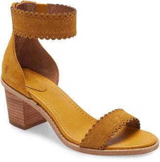 Frye Brielle Scallop Back Zip Sandal