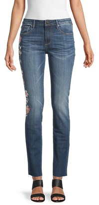 Driftwood Audrey Floral-Embroidered Jeans
