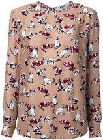 MSGM cat print blouse - women - Silk - 38
