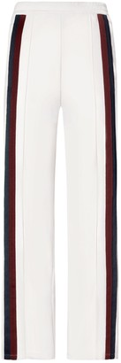 Tory Burch Double-Stripe Wide-Leg Track Pants