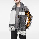 Paul Smith Women's Black Colour Block Wool-Mohair Scarf