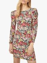 Warehouse Crowded Floral Mini Dress, Multi