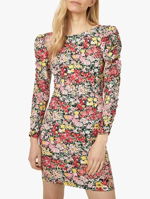 Warehouse Crowded Floral Mini Dress, Multi