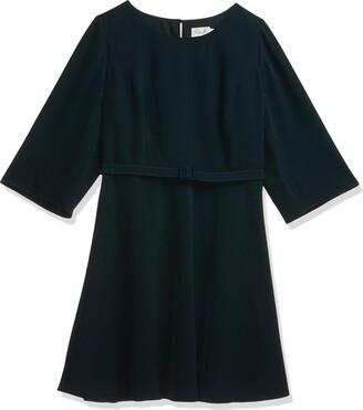 Eliza J Women's Plus Sizes Belted Fit & Flare Dress