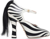 Gucci Lesley zebra print leather pumps