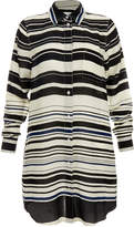 Solid & Striped The Ink Stripe Silk Shirt Beach Coverup