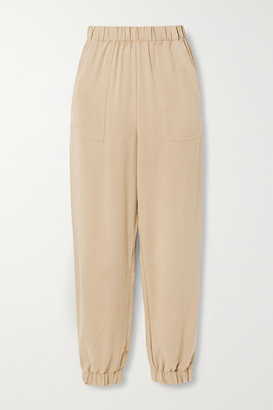 Reformation Montana Tencel-twill Tapered Pants - Sand