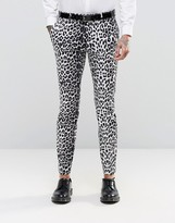 Religion Super Skinny Smart Trousers In Leopard Print