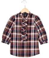 Little Marc Jacobs Girls' Plaid Button-Up Top