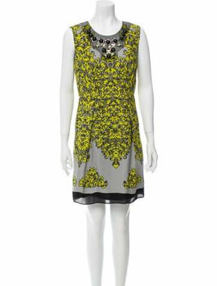 Milly Silk Mini Dress w/ Tags Grey