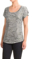 Specially made Burnout Foil T-Shirt - Scoop Neck, Short Sleeve (For Women)