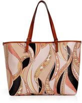 Emilio Pucci Rose-Multi Printed PVC Tote