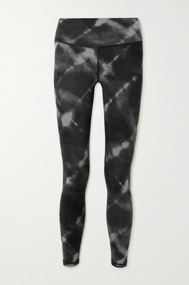 Varley Century Tie-dyed Stretch Leggings - Black