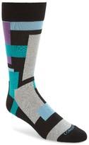 Lorenzo Uomo Men's Cubist Squares Socks