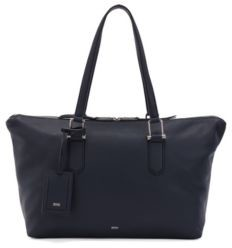 HUGO BOSS Grainy-leather tote bag with signature hardware