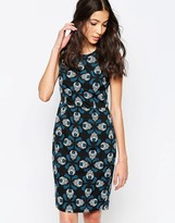 Sugarhill Boutique Judy Tapestry Feather Shift Dress
