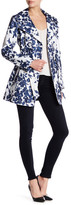 Jessica Simpson Floral Print Trench Coat