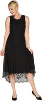 Isaac Mizrahi Live! Petite Hi-Low Lace Maxi Dress