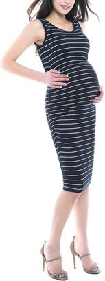 Kimi and Kai Tobi Stripe Maternity Dress