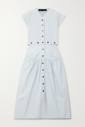 Proenza Schouler Cotton-poplin Midi Dress - Light blue
