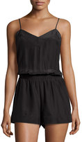 Alice & Trixie Lacey Silk Short Jumpsuit, Black
