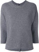Edamame London - button back jumper - women - Cashmere/Merino - 1