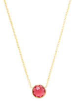 Rivka Friedman Faceted Rubellite Crystal Pendant Necklace