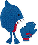 Asstd National Brand Shark Hat & Gloves Set - Preschool Boys