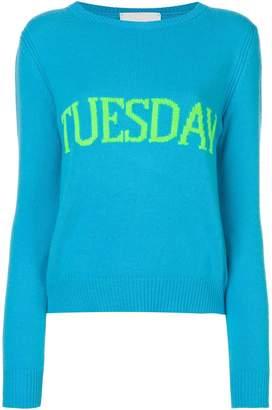 Alberta Ferretti Tuesday intarsia jumper
